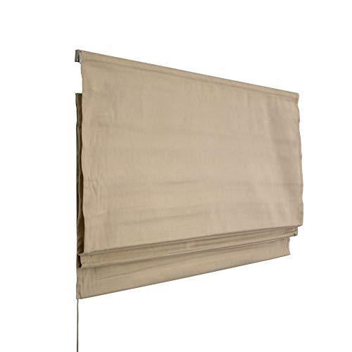 raffrollo beige victoria m rollos ohne. Black Bedroom Furniture Sets. Home Design Ideas