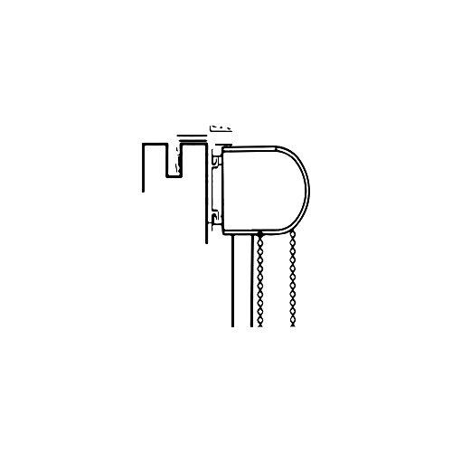 virea 11169 doppelrollo klemmfix ohne bohren 95x150cm grau aluminium rahmen. Black Bedroom Furniture Sets. Home Design Ideas