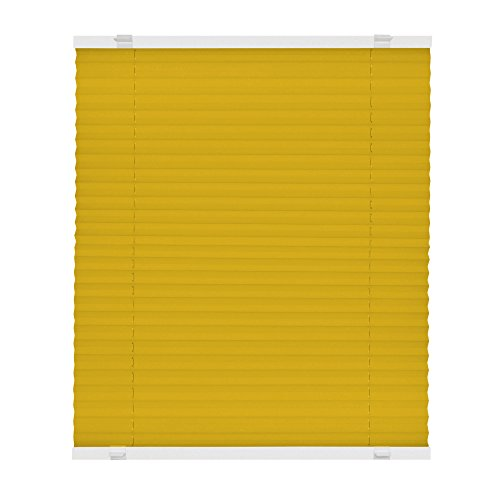 victoria m plissee klemmfix ohne bohren easyfix gr e 100 x 150 cm farbe gelb rollos ohne. Black Bedroom Furniture Sets. Home Design Ideas