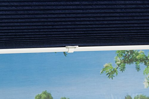 k home klemmfix plissee palma blau 70 x 130 cm b x l lichtschutz moderne crushed optik. Black Bedroom Furniture Sets. Home Design Ideas